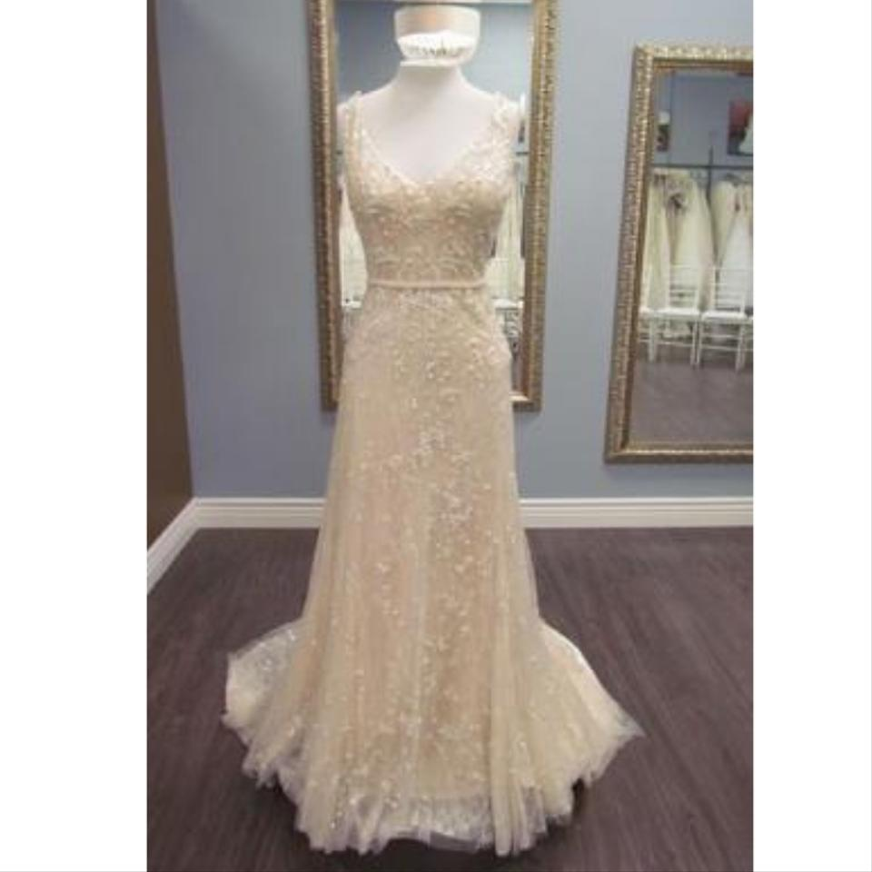c58df56dc8a Maggie Sottero Ivory Champagne Lace Jorie By Traditional Wedding Dress