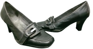 Aerosoles Leather Buckle BLACK Pumps