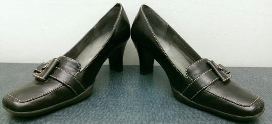 Aerosoles Leather Buckle BLACK Pumps Image 6
