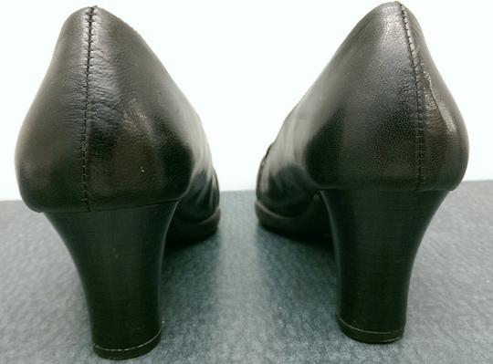Aerosoles Leather Buckle BLACK Pumps Image 7