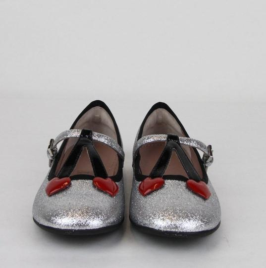 Gucci Silver Children's Shimmer Ballet Fabric Flats 31/Us 13 433120 8167 Shoes Image 2