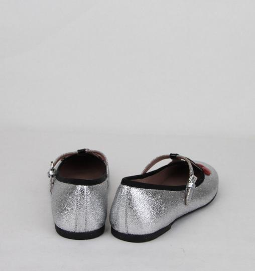 Gucci Silver Children's Shimmer Ballet Fabric Flats 31/Us 13 433120 8167 Shoes Image 4