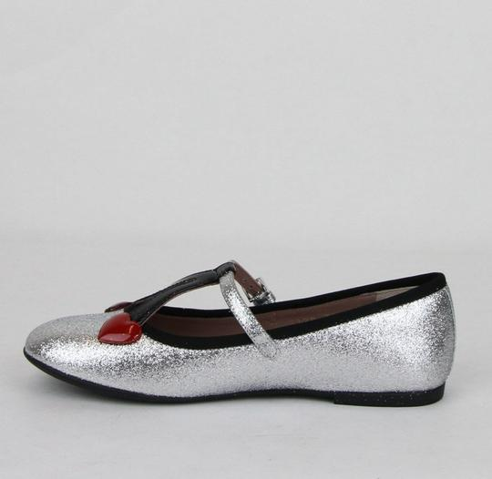 Gucci Silver Children's Shimmer Ballet Fabric Flats 31/Us 13 433120 8167 Shoes Image 6