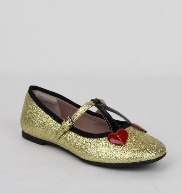 Item - Gold W Shimmer Fabric Ballet Flats W/Cherry Hearts 33/Us 1.5 433120 8090 Shoes