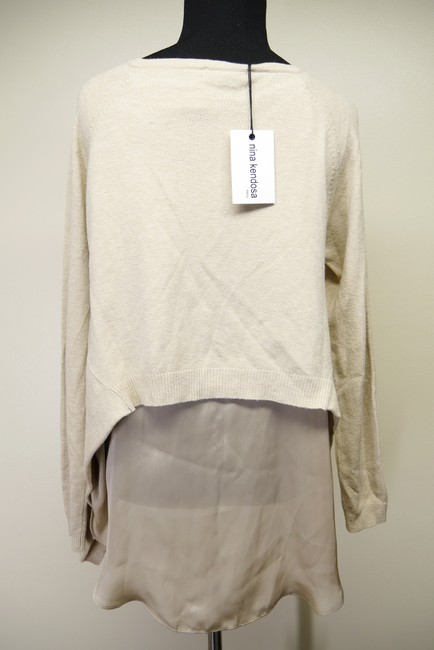 Nina Kendosa Asymmetric Knit Sweater Image 3