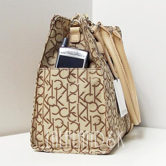Calvin Klein Tote in Khaki/Brown/Gold Image 1