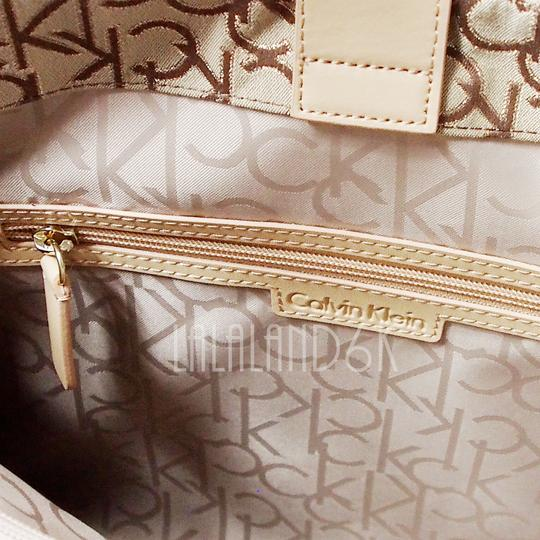 Calvin Klein Tote in Khaki/Brown/Gold Image 6