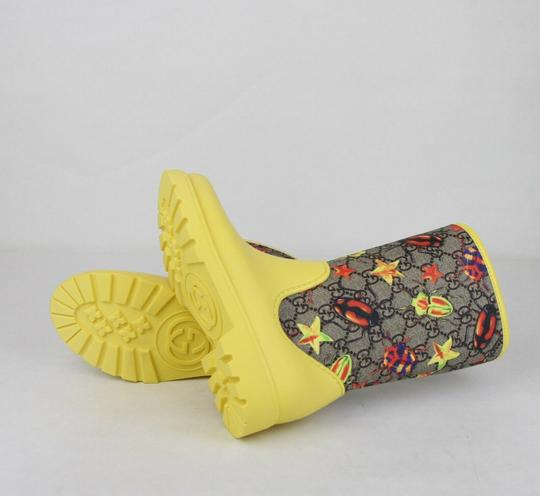 Gucci Yellow Children's Beetles Gg Coated Rain Boots 31/Us 13 442772 8863 Shoes Image 7