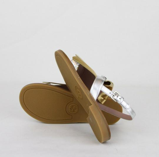 Gucci Silver/Gold Children's Silver/Gold Metallic Leather Sandals 33/Us 1.5 455387 8064 Shoes Image 7