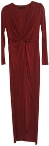 Guess By Marciano Evening Flowy V-neck Longsleeve Stretchy Dress