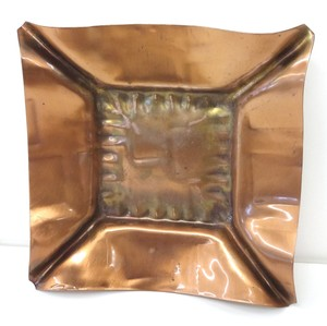 Copper Mid-century Ashtray/Candle Holder Decoration