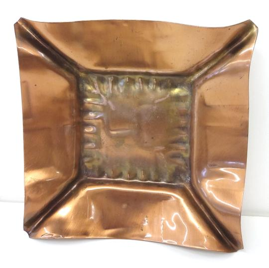Copper Mid-century Ashtray/Candle Holder Decoration Image 0