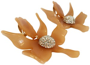 Lele Sadoughi BRAND NEW Lele Sadoughi Crystal Lily Flower Earrings Honey Blush
