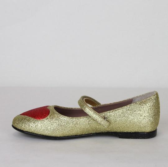 Gucci Gold Children's Shimmer Fabric Ballet Flat 31/Us 13 457017 8055 Shoes Image 6
