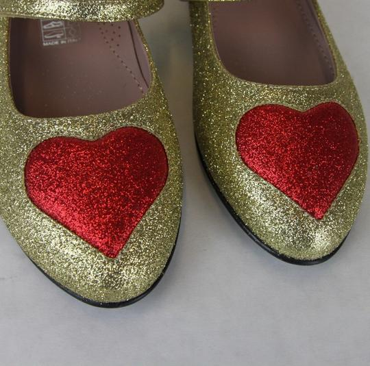 Gucci Gold Children's Shimmer Fabric Ballet Flat 31/Us 13 457017 8055 Shoes Image 8