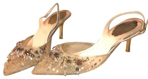 Rene Caovilla Gold with beading Pumps