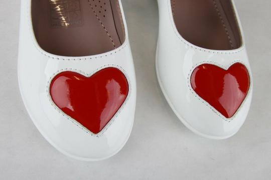 Gucci White W Patent Leather Ballet Flat W/Red Heart 26/Us 10 462616 9087 Shoes Image 4