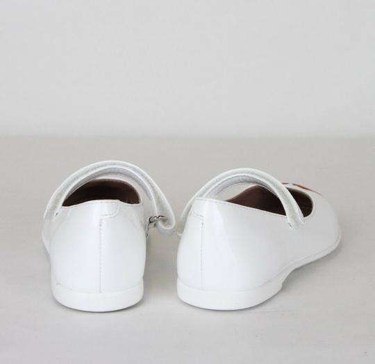 Gucci White W Patent Leather Ballet Flat W/Red Heart 26/Us 10 462616 9087 Shoes Image 5