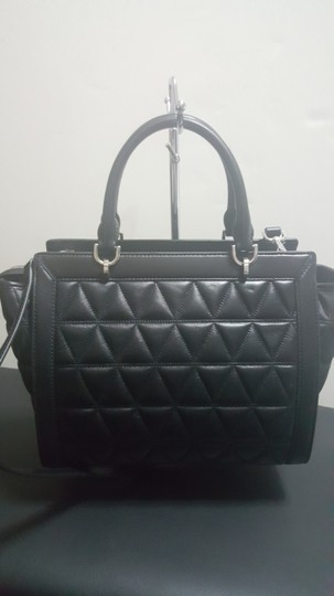 MICHAEL Michael Kors Quilted Satchel in Black Image 1