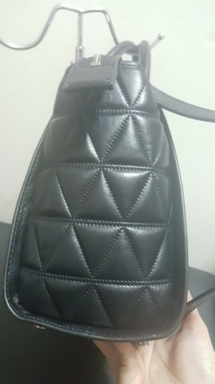 MICHAEL Michael Kors Quilted Satchel in Black Image 2