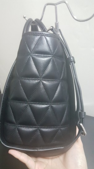 MICHAEL Michael Kors Quilted Satchel in Black Image 3