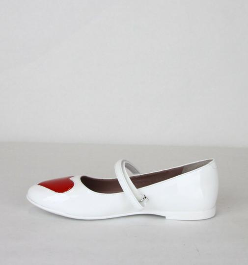 Gucci White W Patent Leather Ballet Flat W/Red Heart 27/Us 10.5 455402 9087 Shoes Image 5
