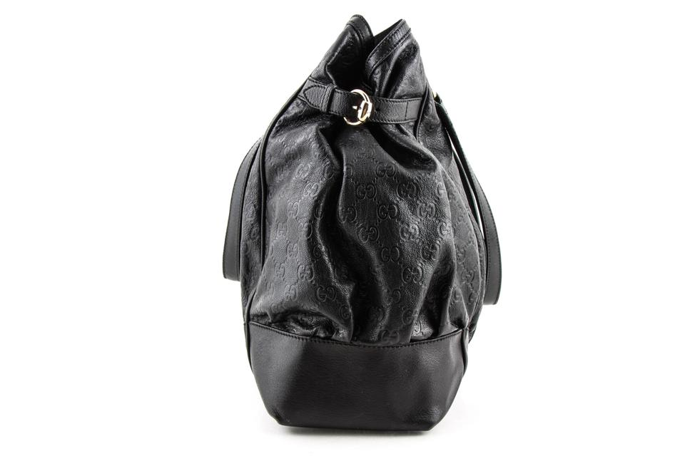 161a3204958d89 Gucci Guccissima Large Full Moon Black Leather Tote - Tradesy