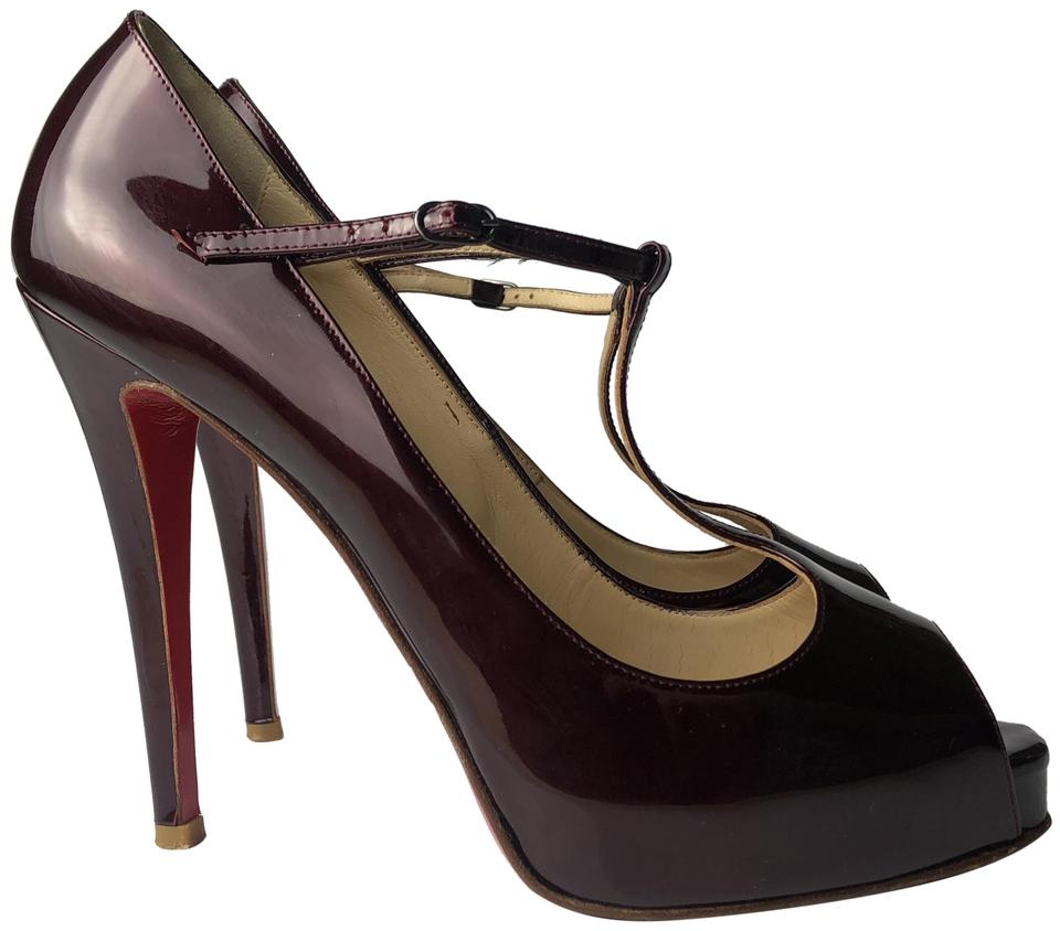 best sneakers 4b6b4 9df5b Christian Louboutin Burgundy Burlina 120 Plum Patent Calf Heels Pumps Size  EU 39.5 (Approx. US 9.5) Regular (M, B) 43% off retail
