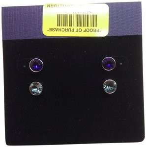 9256aca2b Swarovski Swarovski New Royal Blue and Blue Stud Earrings
