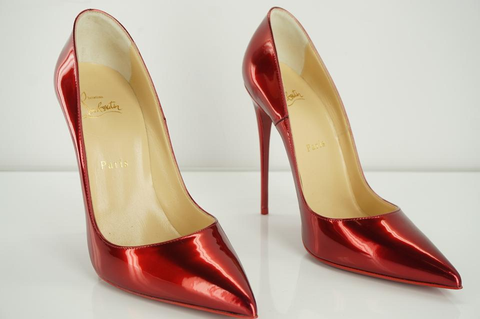 0b42eeccc79 Christian Louboutin Red So Kate Metallic Loubi Patent Leather Pointy Pumps  Size EU 38.5 (Approx. US 8.5) Regular (M, B) 15% off retail