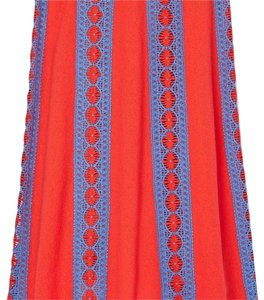 Tory Burch Skirt poppy red and blue