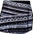 Express Silver Black New with Tags and Sequins Skirt Size 8 (M, 29, 30) Express Silver Black New with Tags and Sequins Skirt Size 8 (M, 29, 30) Image 1