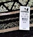 Express Silver Black New with Tags and Sequins Skirt Size 8 (M, 29, 30) Express Silver Black New with Tags and Sequins Skirt Size 8 (M, 29, 30) Image 3