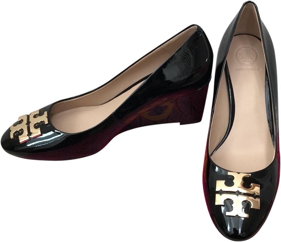 d110b7b34 Tory Burch Black 8.5m   Raleigh   Patent Leather Wedges Size US 8.5 ...
