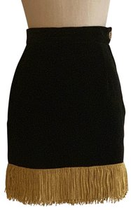Moschino Mini Skirt Black Gold