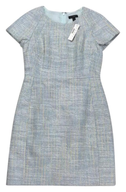 Item - Multicolor Sleeve In Tweed Short Cocktail Dress Size Petite 6 (S)