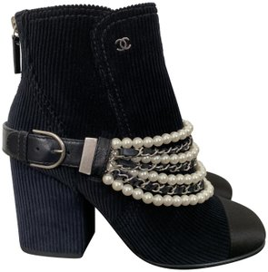 d6a4187da843 Blue Chanel Boots   Booties - Up to 90% off at Tradesy