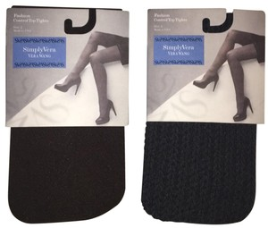 Simply Vera Vera Wang Control Top Tights (2 pair)