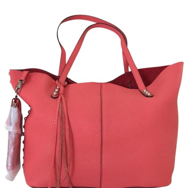 Item - Unlined Coral Leather Tote