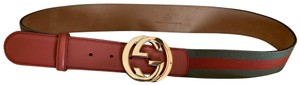 Gucci Gucci Stripe Belt / Gold GG
