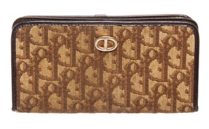 f42440036ad Dior Christian Dior Brown Monogram Canvas Leather Long Wallet