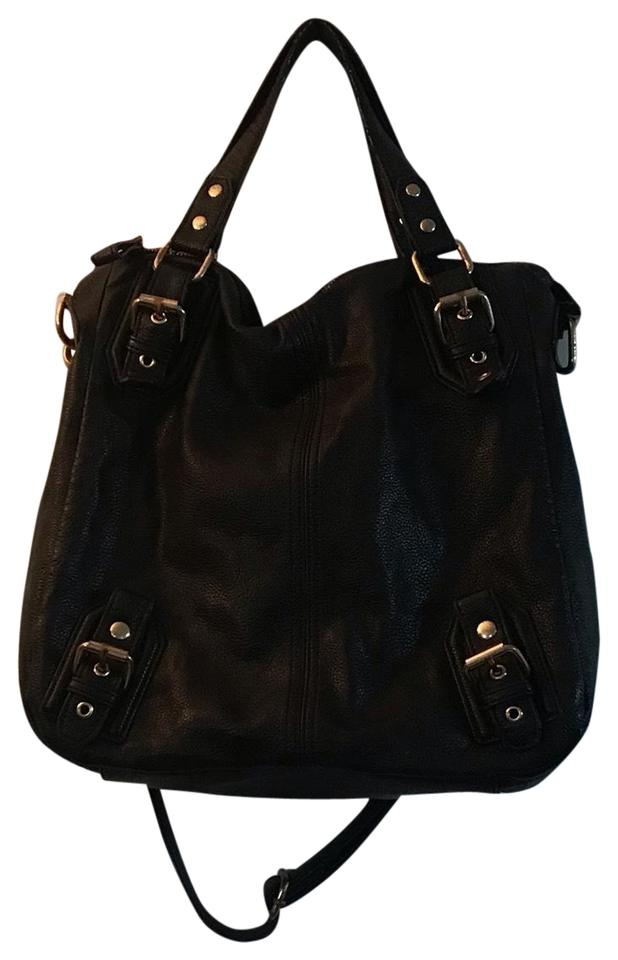 8dde4cdb8f84 Deena   Ozzy Black Leather Cross Body Bag - Tradesy