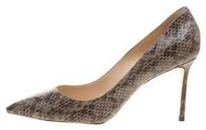 9d4aeef6f673 Jimmy Choo Beige Elaphe Leather Romy Pointed Pumps. Size  EU 41 (Approx. US  11) Regular ...