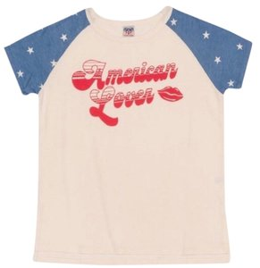ccdb4e82158f Junk Food White Blue Red American Lover Graphic Tee Shirt Size 8 (M ...