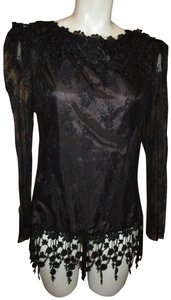 Patra Formal Tunic Lace 001 Fringed Top black