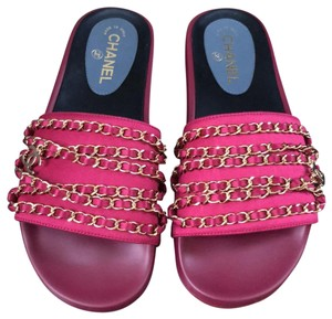 Chanel pink Sandals