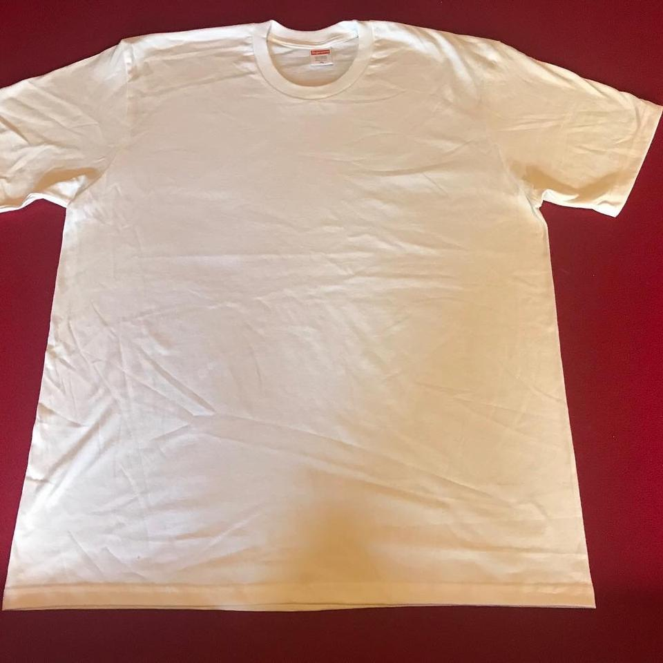 Supreme White Red Navy Blue and Maroon Blank Tees Tee ...