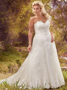 Maggie Sottero Ivory Lace Laverna By Traditional Wedding Dress Size 16 (XL, Plus 0x)