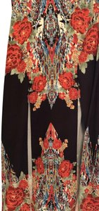Flying Tomato Maxi Skirt Multi Bright Floral on Black
