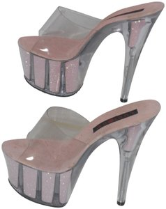 LUCIOUS PINK AND CLEAR Platforms